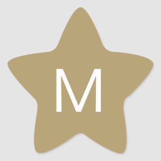 Festive Star Initial Sticker