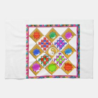 Festive Stars and Ornaments Kitchen Towel