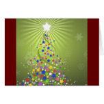 Festive Stars Christmas Card