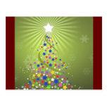 Festive Stars Christmas Card Postcards