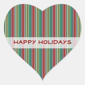 Festive Stripes Holiday Stickers