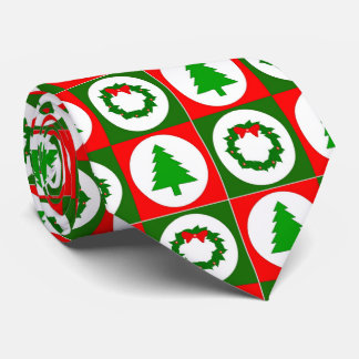 Festive, Stylish Graphic Design Holiday Neck, Neck Tie