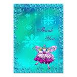 Festive Sugar Plum Fairy Thank You Card