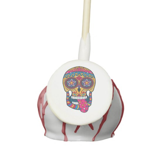 Festive Sugar Skull, Day of the Dead, Halloween Cake Pops