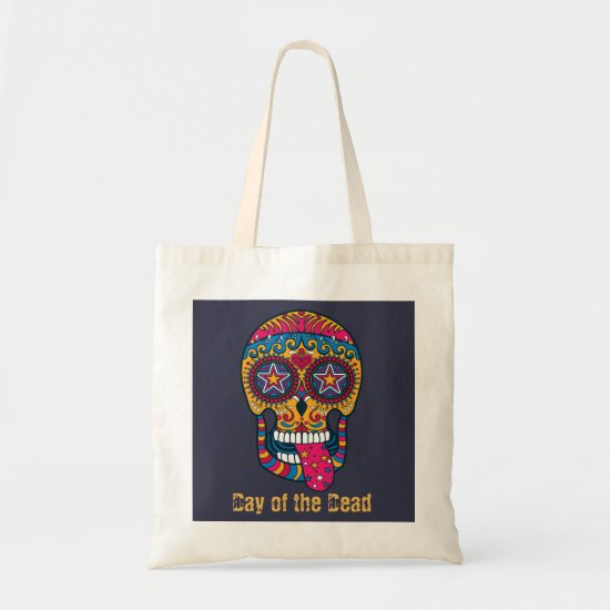 Festive Sugar Skull, Day of the Dead Tote