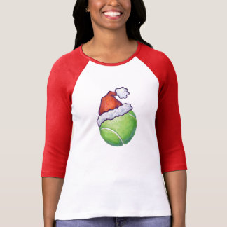 Festive Tennis Ball in a Santa Hat T-Shirt