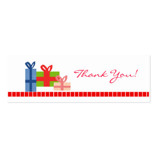 Festive - Thank You Card Double-Sided Mini Business Cards (Pack Of 20)