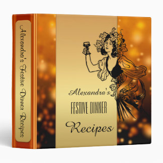 Festive Thanksgiving or Christmas Recipe Binder