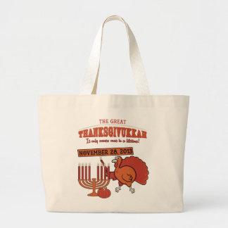 Festive 'Thanksgivukkah' Jumbo Tote Bag