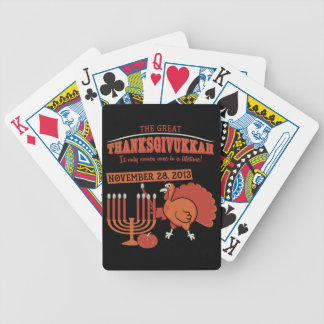 Festive 'Thanksgivukkah' Bicycle Playing Cards