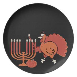 Festive 'Thanksgivukkah' Dinner Plate