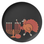 Festive 'Thanksgivukkah' Dinner Plates
