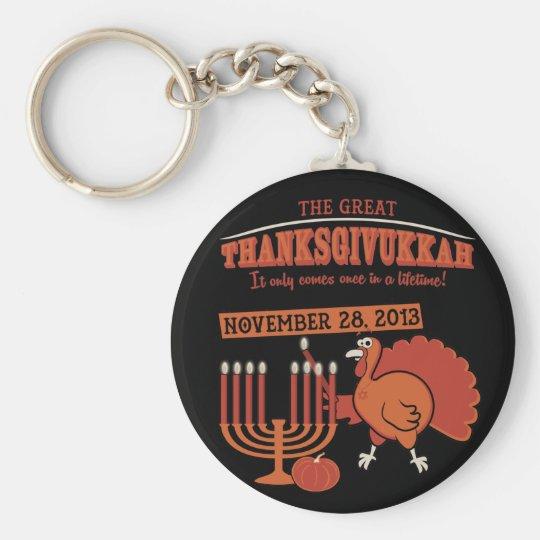 Festive 'Thanksgivukkah' Keychain