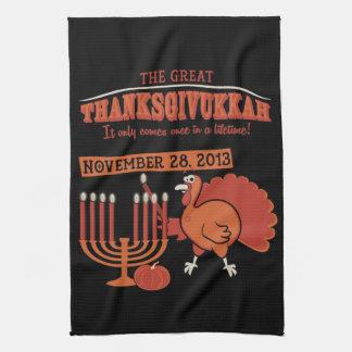 Festive 'Thanksgivukkah' Kitchen Towel