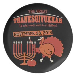 Festive 'Thanksgivukkah' Melamine Plate