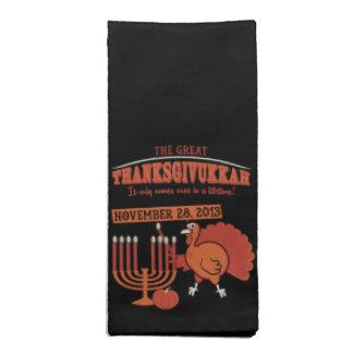 Festive 'Thanksgivukkah' Napkin