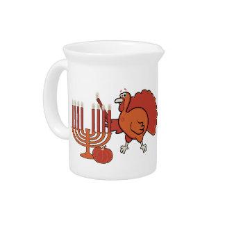 Festive 'Thanksgivukkah' Beverage Pitcher