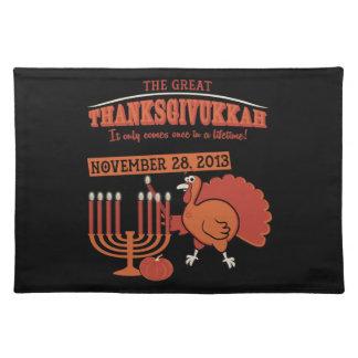 Festive 'Thanksgivukkah' Place Mat
