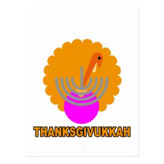 Festive 'Thanksgivukkah' Tshirts K.png Post Card