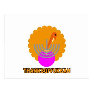 Festive 'Thanksgivukkah' Tshirts K.png Post Cards