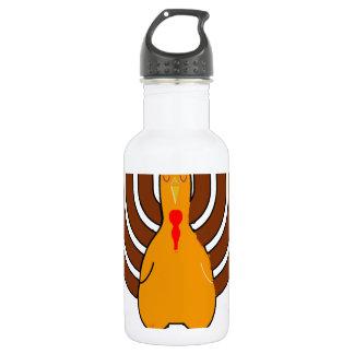 Festive 'Thanksgivukkah' Tshirts l.png 18oz Water Bottle