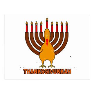 Festive 'Thanksgivukkah' Tshirts l.png Postcard