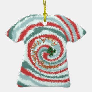 Festive Tie Dye TShirt Ornament