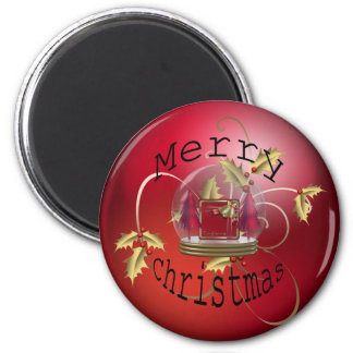 Festive Timmings 2 Inch Round Magnet