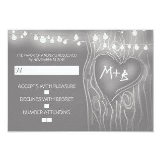 Festive tree elegant wedding RSVP card
