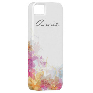 Festive Tropical flowers iPhone 5 Cases