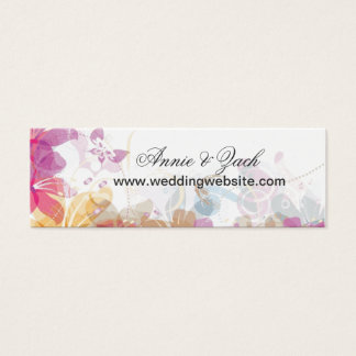 Festive Tropical flowers Mini Business Card