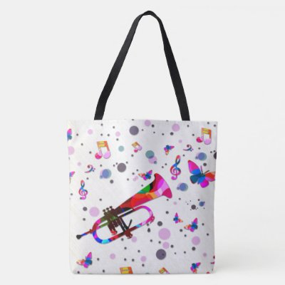Festive Trumpet Tote Bag