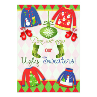 Festive Ugly Christmas Sweater Party Invitation