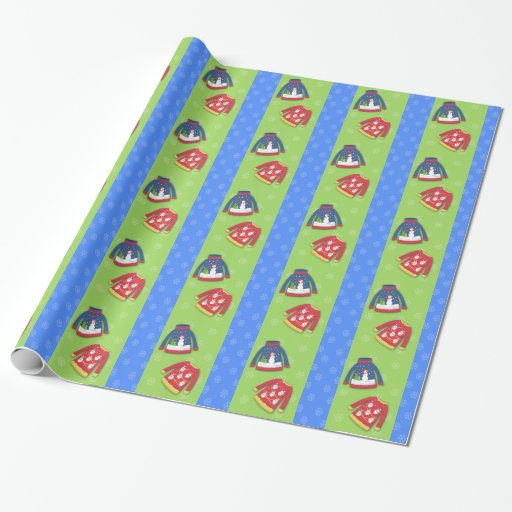 Festive Ugly Sweater Holiday Wrapping Paper