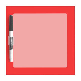 Festive Vibrant Coral Background Color Dry Erase Board