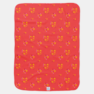 Festive Warm Colored Patterns Baby Blanket