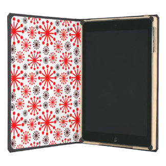 * Festive Winter Snowflake Pattern – Red and White Cover For iPad Air