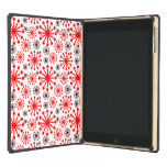Festive Winter Snowflakes Pattern – Red and White Cover For iPad Air