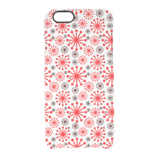 Festive Winter Snowflakes Pattern – Red and White Uncommon Clearly™ Deflector iPhone 6 Case