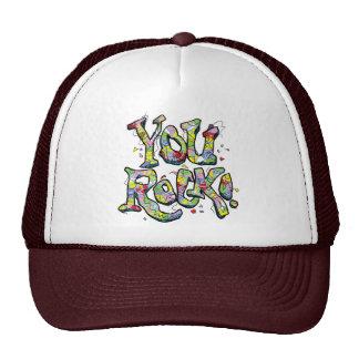 "Festive ""You Rock!"" Lettering Hat"