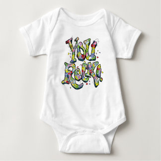 "Festive ""You Rock!"" Lettering Kid's T-Shirt"