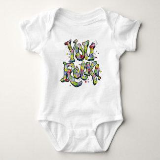 "Festive ""You Rock!"" Lettering Kid's T-Shirt"