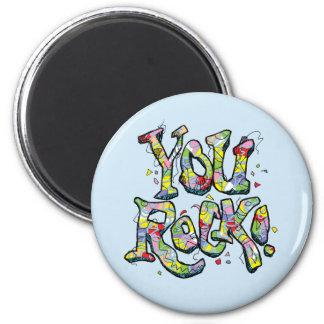 "Festive ""You Rock!"" Lettering Magnet"