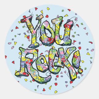 """Festive """"You Rock!"""" Lettering Sticker"""