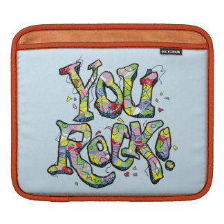 "Festive ""You Rock!"" Lettering Tablet Sleeve"
