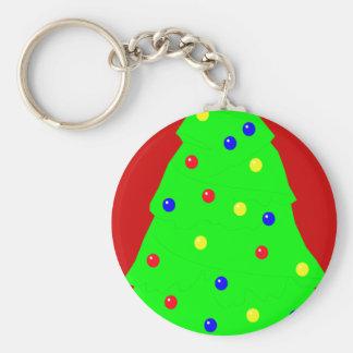 Festive Yule Tree Key Chain