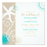 Festively Chic Beach Wedding Invitation at Zazzle