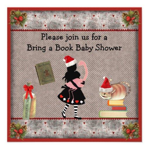 Festivo traiga un libro Alicia y la fiesta de Invitación