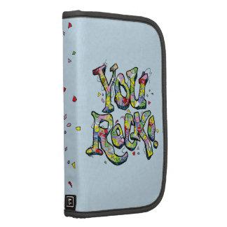 """Festivo """"usted roca!"""" Letras Smartphone en folio Organizador"""