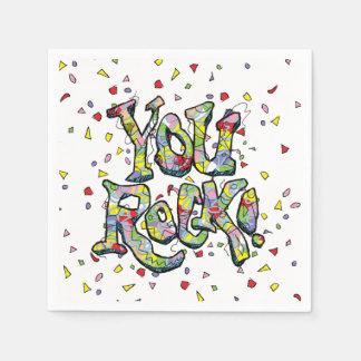 """Festivo """"usted roca!"""" Servilletas de papel de"""